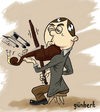 Cartoon: violinist snail (small) by gunberk tagged snail music violinist