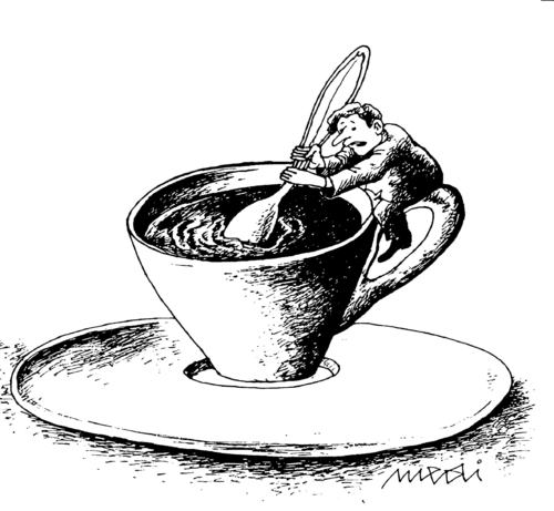 Cartoon: a great coffee (medium) by Medi Belortaja tagged cup,coffee,man