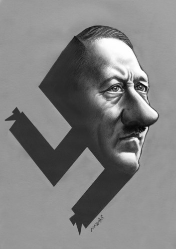 Cartoon: Adolf Hitler (medium) by Medi Belortaja tagged adolf,hitler