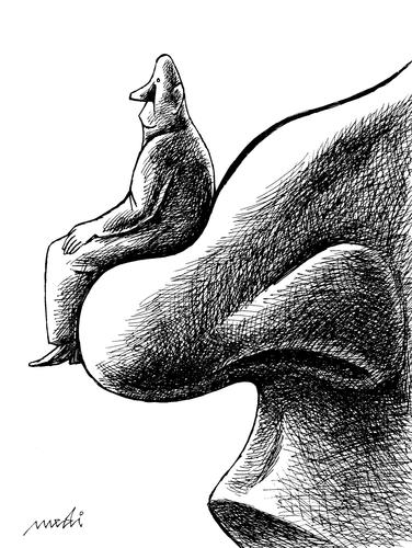 Cartoon: career (medium) by Medi Belortaja tagged armchair,nose,career