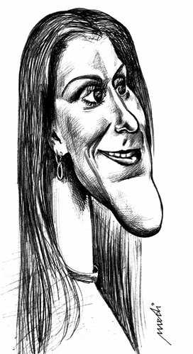Cartoon: Celine Dion (medium) by Medi Belortaja tagged dion,celine