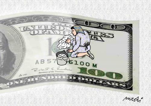 Cartoon: money laundering (medium) by Medi Belortaja tagged dollar,laundering,money,usd,cleaner
