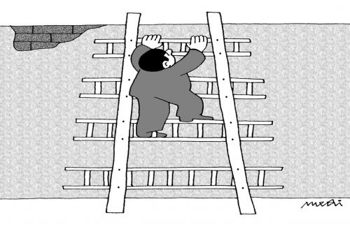Cartoon: climbing stairs (medium) by Medi Belortaja tagged stairs,climbing,ladders