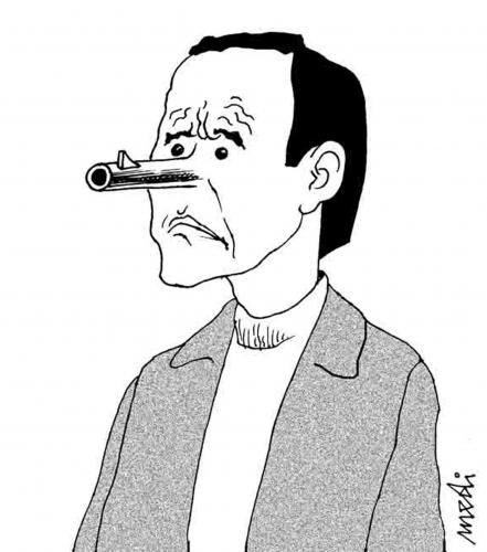Cartoon: nose gun (medium) by Medi Belortaja tagged killer,egoism,gun,nose,murder