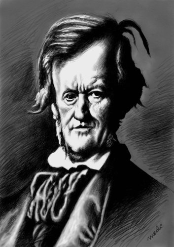 Cartoon: Richard Wagner (medium) by Medi Belortaja tagged wagner,richard