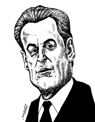 Cartoon: Nicolas Sarkozy (medium) by Medi Belortaja tagged france,president,nicolas,sarkozy