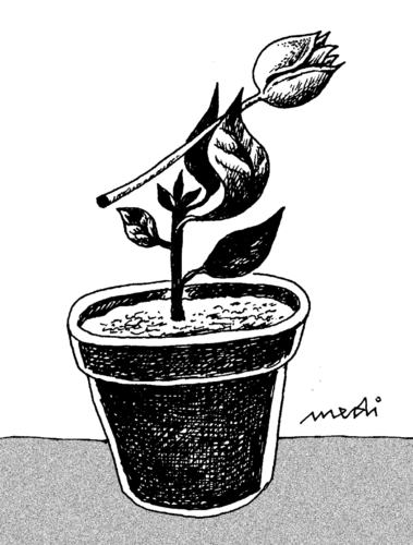 Cartoon: adoption of floral (medium) by Medi Belortaja tagged flowerpot,lower,floral,adoption