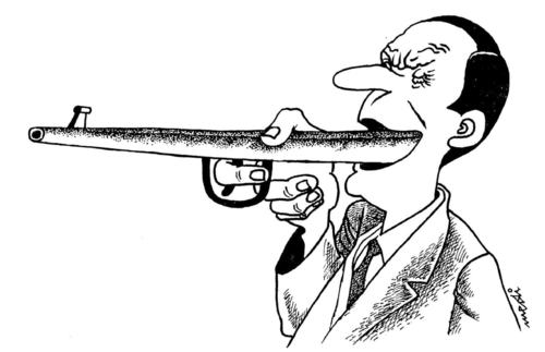 Cartoon: word that kills (medium) by Medi Belortaja tagged gun,kills,word,tongue,speech