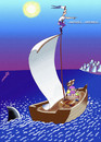 Cartoon: american lottery-discoverer (small) by Medi Belortaja tagged american,lottery,discoverer,immigration,immmigrants,boat,people