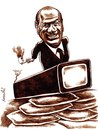 Cartoon: Berlusconi with gun (small) by Medi Belortaja tagged berlusconi,gun,media,tv