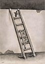 Cartoon: ladders career (small) by Medi Belortaja tagged ladders,career,wall,man,men,people,hierarchy