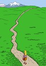 Cartoon: husband s alley (small) by Medi Belortaja tagged husband,wife,face,man,woman,marriage,alley,road