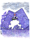 Cartoon: love after earthquake (small) by Medi Belortaja tagged love,lovers,kiss,earthquake