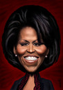 Cartoon: Michelle Obama (small) by Medi Belortaja tagged michelle,obama,first,lady,us,usa,president,wife