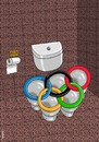 Cartoon: Olympic toilet (small) by Medi Belortaja tagged olympic,toilet,circles,olimpia,doping