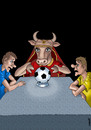 Cartoon: oracles Euro 2012 (small) by Medi Belortaja tagged yvonne,oracles,euro,2012,ukraine,soccer,football,fussball