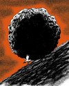 Cartoon: power of peace (small) by Medi Belortaja tagged peace,war,boulder,stone,sisyphus,pigeon,dove,colombo