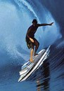 Cartoon: surfer (small) by Medi Belortaja tagged surf,surfer,surfing,big,ship,boat