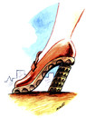 Cartoon: tower of Piza (small) by Medi Belortaja tagged tower piza woman shoe
