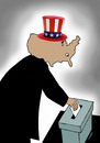 Cartoon: usa elections (small) by Medi Belortaja tagged usa,presidential,elections