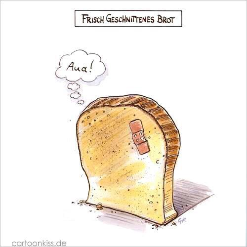 Cartoon: Brot (medium) by Riemann tagged brot,pflaster,schmerz,schnitte