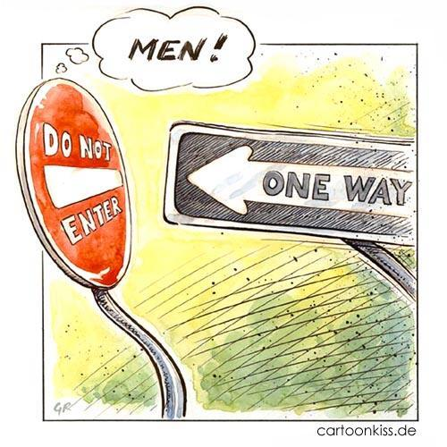 Cartoon: Men (medium) by Riemann tagged beziehung,drama,verkehr