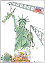 Cartoon: Demolition Party (small) by Riemann tagged republican,party,donald,trump,destruction,democracy,civil,war,racism,corruption,statue,of,liberty,president,united,states,religious,right,nra,white,supremacists,freiheitsstatue,amerika,cartoon,george,riemann