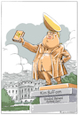 Cartoon: Dick-Tator (small) by Riemann tagged donald,trump,usa,president,republicans,dictator,tyrant,narcicist,kim,jong,un,nordkorea,egomaniac,narzisst,egoist,rassist,george,floyd,rassenunruhen,riots,statue,washington,cartoon,riemann