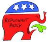 Cartoon: Republicans (small) by Riemann tagged republican,party,donald,trump,gop,usa,politiks,destruction,shame,repulsive,elections,president,government,elephant,logo,icon,republikaner,us,wahl,elefant,cartoon,george,riemann