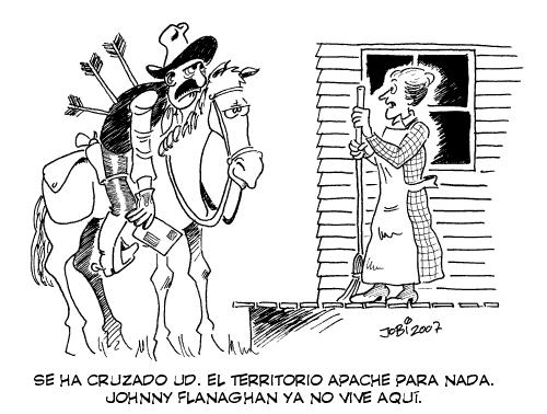 Cartoon: Territorio apache (medium) by jobi_ tagged far,west,