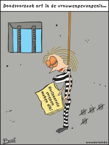 Cartoon: woman prison (medium) by barent tagged prison,woman,