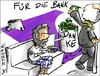 Cartoon: Für die Bank (small) by Philipp Weber tagged banken,griechenland,schulden
