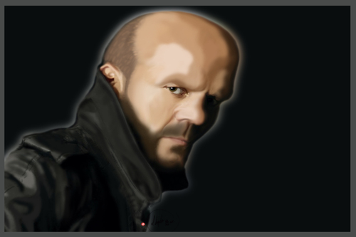 Cartoon: Jason Statham (medium) by BOHEMIO tagged jason,statham,transporter