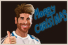 Cartoon: MORRY CHRISTMAS (small) by BOHEMIO tagged sergio,ramos,christmas