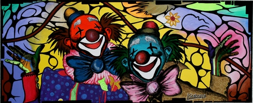 Cartoon: Clowns (medium) by Striefchen tagged clowns,bunt