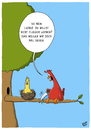 Cartoon: Fliegen (small) by luftzone tagged thomas,luft,cartoon,lustig,fliegen,vögel,vogel,nest,baum,lernen,säge,ast,erziehung
