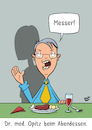 Cartoon: Messer (small) by luftzone tagged thomas,luft,cartoon,lustig,arzt,chirurg,doktor,essen,messer,arbeit,frau,brille