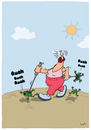 Cartoon: Nording Walking (small) by luftzone tagged nordic,walking,frösche,frog,frogs,sport,fitness,freizeit