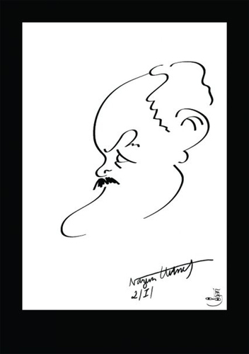 Cartoon: NAZIM HIKMET (medium) by Dogan Can Alpaslan tagged nazim,hikmet