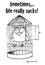 Cartoon: Sometimes life sucks (small) by brezeltaub tagged life,sucks,bird,no,sports,vogel,dick,übergewicht,zu,gefangen,vorsätze,vorsatz,fitness,how,to,start,small,cage,loss,weight,too,big,prison,break,gefängnis,knast,kittchen,gefangener,jail,prisoner