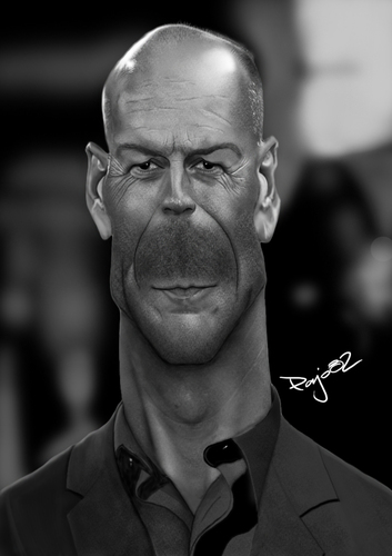 Cartoon: Bruce Willis (medium) by Pajo82 tagged bruce,willis