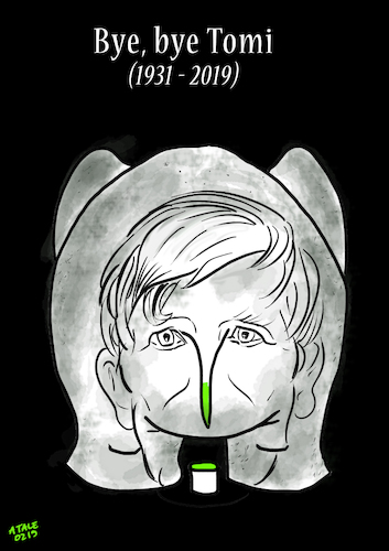 Cartoon: Tomi Ungerer (medium) by A Tale tagged tom,ungerer,gestorben,februar,2019,illustrator,cartoonist,zeichner,künstler,schriftsteller,provokant,original,hommage,nachruf,karikatur,caricature,gesicht,porträt,bild,cartoon,pressezeichnung,illustration,tale,agostino,natale,tom,ungerer,gestorben,februar,2019,illustrator,cartoonist,zeichner,künstler,schriftsteller,provokant,original,hommage,nachruf,karikatur,caricature,gesicht,porträt,bild,cartoon,pressezeichnung,illustration,tale,agostino,natale