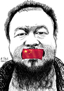 Cartoon: Ai WeiWei (small) by A Tale tagged china weiwei democracy freedom speech despotism diktatur cina artist