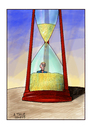 Cartoon: As time goes by (small) by A Tale tagged sanduhr,sand,rieseln,hourglass,getting,old,altern,alter,vergänglichkeit,zeit,schicksal,ablaufen,sterben,tod,senioren,rente