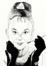Cartoon: Audrey Hepburn Karikatur (small) by A Tale tagged audrey,hepburn,todestag,25,jahre,schauspielerin,hollywood,oscar,emmy,gewinnerin,1950,1960,filme,kino,rollen,breakfast,at,tiffanys,holly,golightly,actress,movies,porträt,karikatur,gesicht,caricature,zeichnung,bild,tale,agostino,natale
