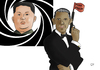 Cartoon: Barack Bond (small) by A Tale tagged sony,hack,hacker,zensur,drohung,kino,anschlag,film,the,interview,zurückgezogen,sonyleaks,drehbuch,james,bond,hollywood,barack,obama,usa,amerika,präsident,beschuldigung,nordkorea,verantwortlich,kim,jong,un,diktator,fbi,einschüchterung,geheimdienste,spion,k