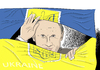 Cartoon: Gespaltene Ukraine (small) by A Tale tagged ukraine,krise,proteste,demonstrationen,bürgerkrieg,putin,russland,einfluss,janukowitsch,regierung,opposition,flagge,eskalation,krim,invasion,einmarsch,krieg,zerfall,annexion,ostukraine,unruhen