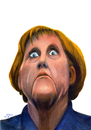 Cartoon: Merkel (small) by A Tale tagged merkel angela karikatur porträt zeichnung caricature cartoon illustration tale agostino natale
