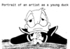 Cartoon: Duck-Portrait (small) by A Tale tagged james,joyce,donald,duck,walt,disney,ente,portrait,artist