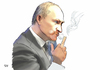 Cartoon: Smoking gun (small) by A Tale tagged wladimir,putin,ukraine,russland,konfrontation,militärkonvoi,hilfslieferung,hinhaltetaktik,wahrheit,beweise,flugzeugabschuss,konflikt,ostukraine,abspaltung,chaos,bürgerkrieg,eu,nato,westen,osten,politik,karikatur,mittelfinger,stinkefinger